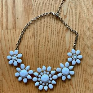 Francesca's Collections Jewelry - White flower statement necklace
